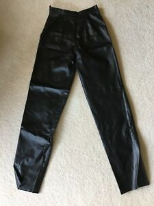 Genuine Black Leather Pants Size 1