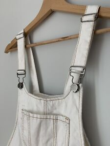 Cute White Forever 21 Overalls - SIZE M