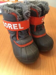 Sorel Toddler Snow Commander Winter Boots Size 7