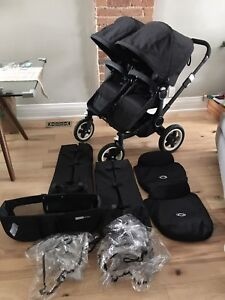 9/10 cond bugaboo donkey duo/ twin double stroller