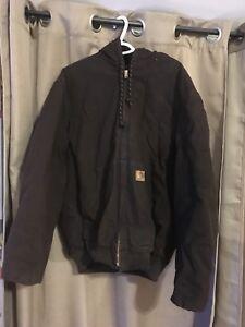 Carhartt hooded Bomber jacket Large Long