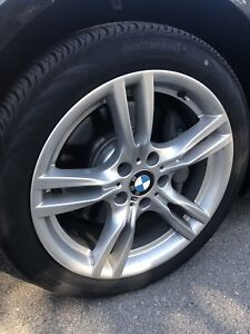 """ALMOST NEW 18"""" BMW M SPORT 3SERIES RIMS + TIRES"""