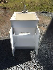 Utility sink with cabinet - Used