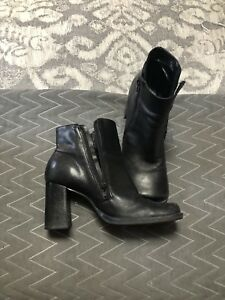Leather ankle boots - 8.5