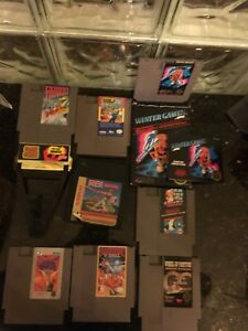 NES Nintendo with 8 games and game genie