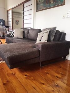 Modern 3 seater modular lounge with chaise and matching 2 seater sofa