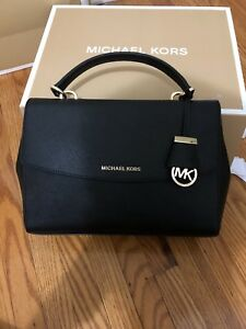 Brand New Michael Kors Ava Medium Saffiano Leather Satchel Bag
