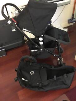 Bugaboo All Black cameleon 3 pram stroller excellent condition