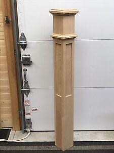 Beautiful Custom Staircase Oak Post's FOR SALE