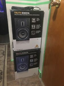 """""""SOLD"""" Behringer Studio Reference Monitors - New"""