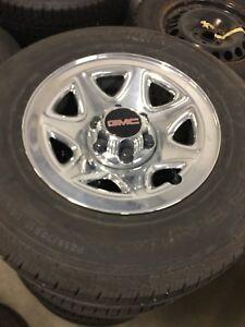 "Like new 17"" Sierra/ Silverado wheel/tire set P255/70R17"