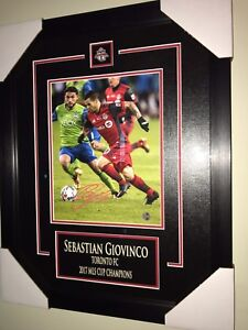 AUTOGRAPHED GIOVINCO AND ALTIDORE FRAMED 8x10