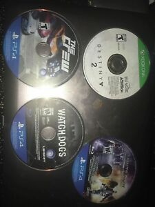 Ps4 games and destiny 2 Xbox one