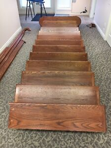 13 Step Oak Staircase For Sale