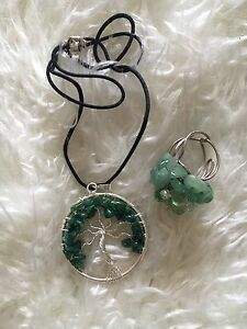 Jade tree of life necklace