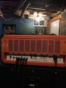 Orange th100 and marshall 4x12