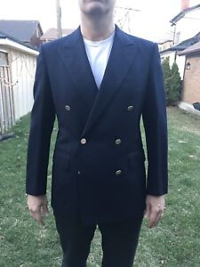 Chester Barrie for Harrods double breasted navy blazer