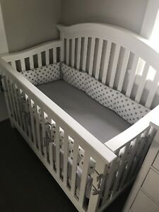 Almost brand new crib and mattress for sell