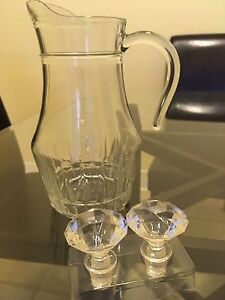Clear Glass Pitcher(Worth 30$)// Pichet en verre