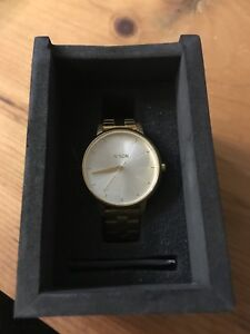 Gold Nixon Kensington Watch - With Box!