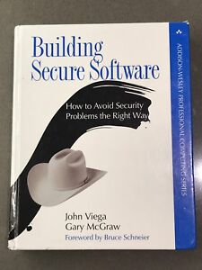 Building Secure Software (hard cover)