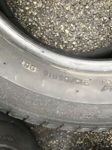 Michelin x-ice 215/65/16 winter tires 7/32