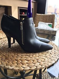 Genuine leather heeled boots size 8