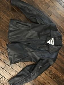 Women's Bristol Leather Motorcycle Jacket -Size 10