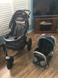 Baby Trend Expedition CLX Jogger Stroller And Car Seat