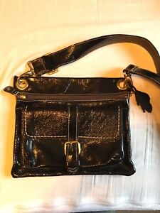 Roots patent leather purse NWOT