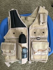 Paintball tactical vest with remote tank holder