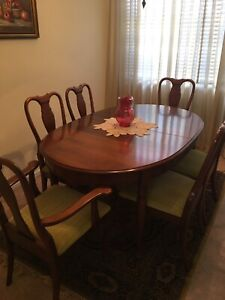 Jackson 6 seater dining table & chairs