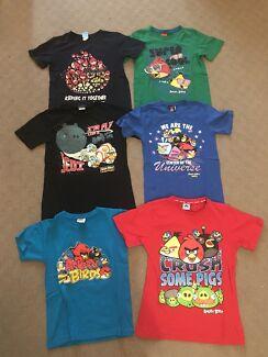 Boys size 10 Angry Birds TShirts X 6