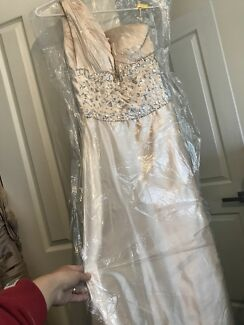 Champagne formaldress long size 8