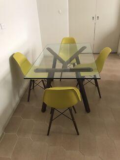 Matt Blatt Glass Dining Table kitchen