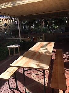 Rent wooden tables and benches - 12 sets for wedding / event Carramar Wanneroo Area Preview