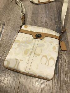 Coach Jacquard cross body purse / bag