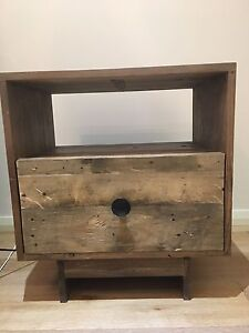 2 x West Elm recycled timber bedside tables West Hoxton Liverpool Area Preview