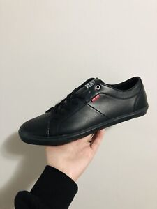 Levi's Black Leather Sneakers - Brand New Size 12