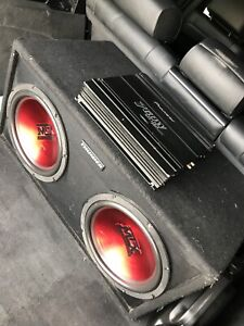 "^** TWO 10"" MTX SUBS IN MATCHING BOX WITH PIONEER AMP!!"