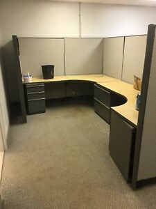 Office Cubicles x 4