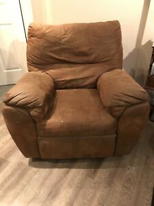 Comfy Used Recliner - Suede (I think)