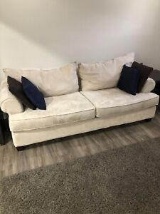 Couch & chaise lounge chair - beige