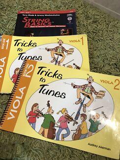 Viola school music books (3)