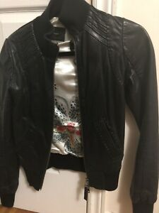 Blank nyc jacket and authentic aritzia mackage leather jacket