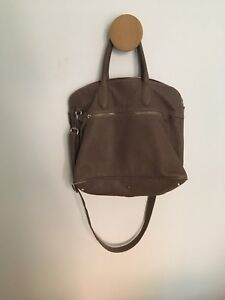 Roots Shirley Purse - Grey Dylan Leather, Large