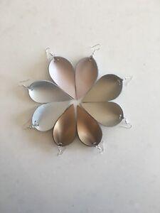 Genuine leather earrings / teardrop earrings