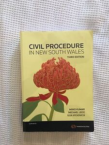 Civil Procedure in New South Wales Textbook 3rd Edition Adamstown Newcastle Area Preview