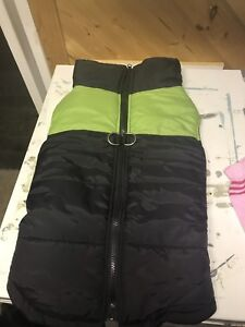 Like new dog jacket large obo high end