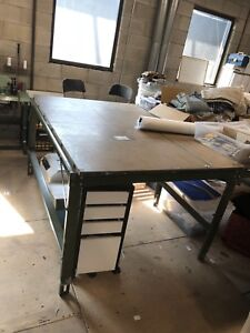 Japanese industrial cutting tables, sewing machine, Serger,etc